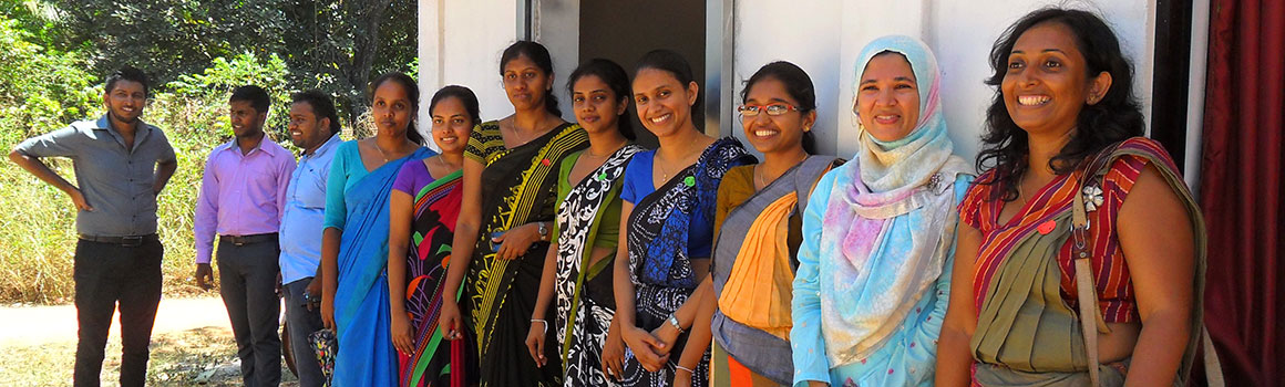 Faculty and students in Rajarata University's Health Promotion Program