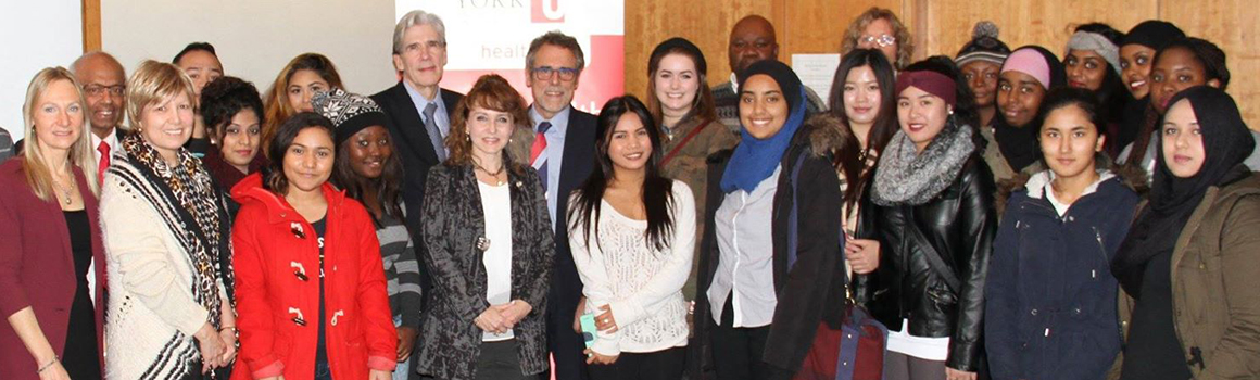 Global Health students and faculty with former Mexican health minister Dr. Julio Frenk